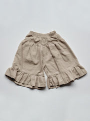 The Ruffle Culotte - Oatmeal