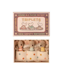 Triplets, Baby Mice in Matchbox (new)