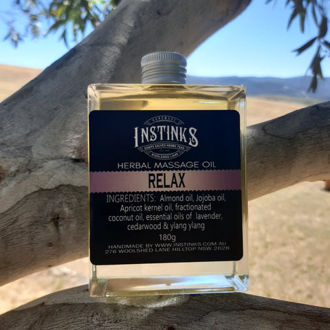 RELAX Herbal Infused Massage Oil