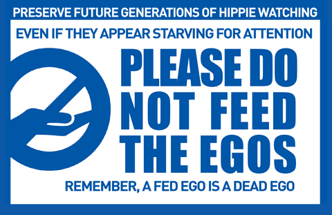 Sticker - Don't Feed The Egos