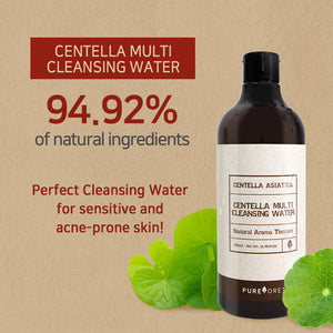 Pureforet Centella Multi Cleansing Water, 16.97Fl Oz, 500ml