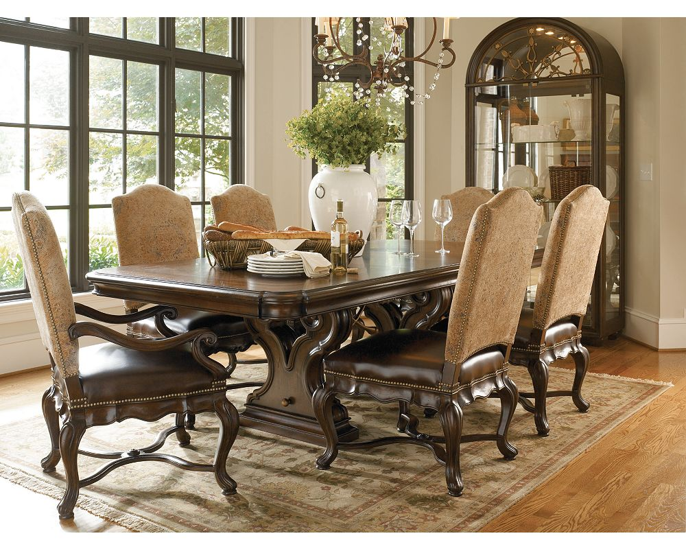 Magnificent Thomasville Furniture Hills Of Tuscany Bibbiano Dark Rustico Dining Table Download Free Architecture Designs Madebymaigaardcom