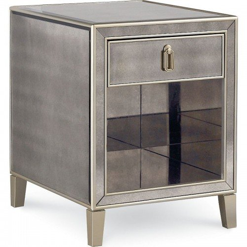 Drexel Heritage Furniture Et Cetera Flattery Mirrored End Table 4