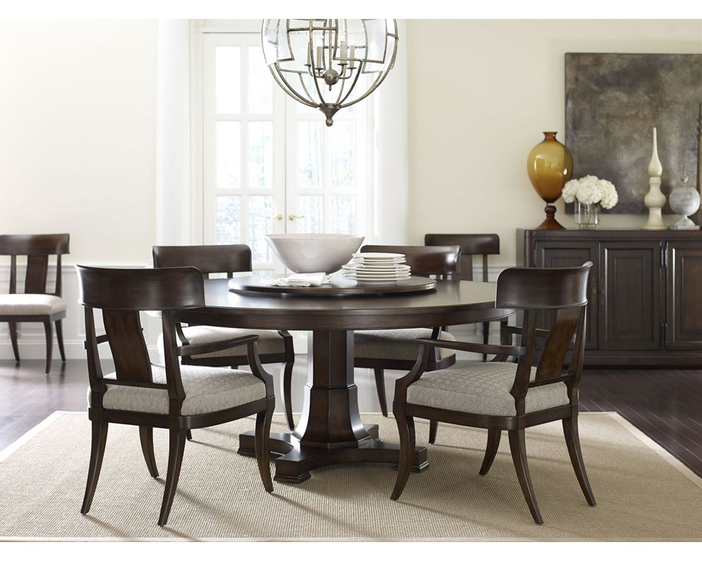 Surprising Thomasville Furniture Harlowe Finch Adelaide Rustic Oak Round Dining Table Set Caraccident5 Cool Chair Designs And Ideas Caraccident5Info