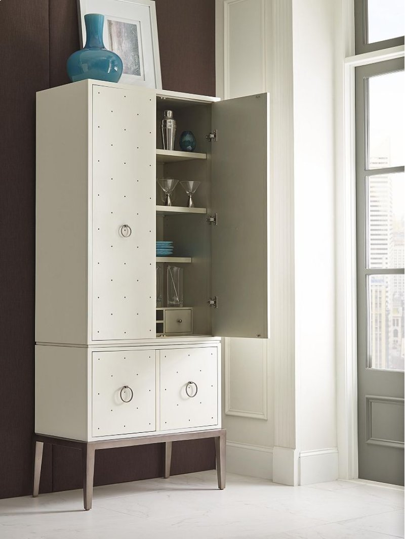 Drexel Furniture Cove Collection Cottard Dove White Multi Door Cabinet 650 900