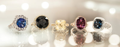 Coloured Gemstones in Engagement Rings
