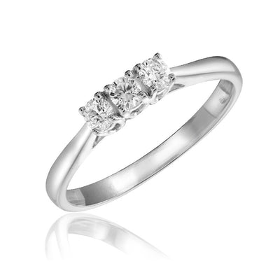 Diamond 3 stone Promise Ring