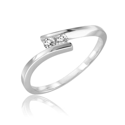 Diamond Bypass Promise Ring
