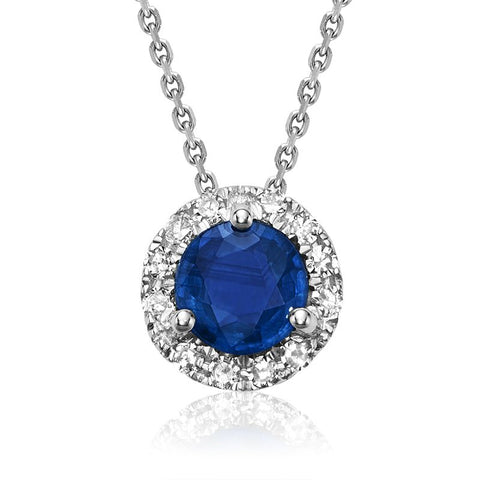 RNB Jewellery - Brilliant Halo Gemstone Pendant