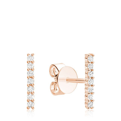 RNB JEWELLERY - Bar Diamond Earrings