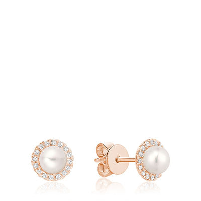 RNB JEWELLERY - Freshwater Pearl & Diamond Earrings