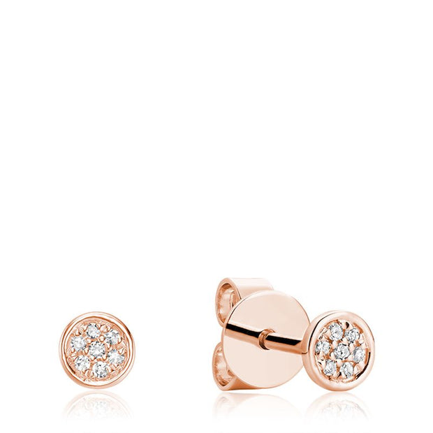 RNB JEWELLERY - Disk Diamond Earrings