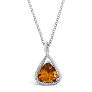 Custom Diamond & Citrine Pendant