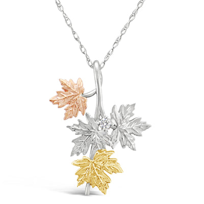 Maple Leaf Diamond Pendant