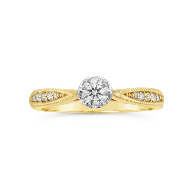 6 Claw Solitaire Ring