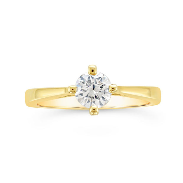 Solitaire Compass Diamond Ring