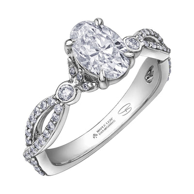 Seasons by Shelly Purdy 18kpd Winter Collection Canadian Diamond Engagement Ring