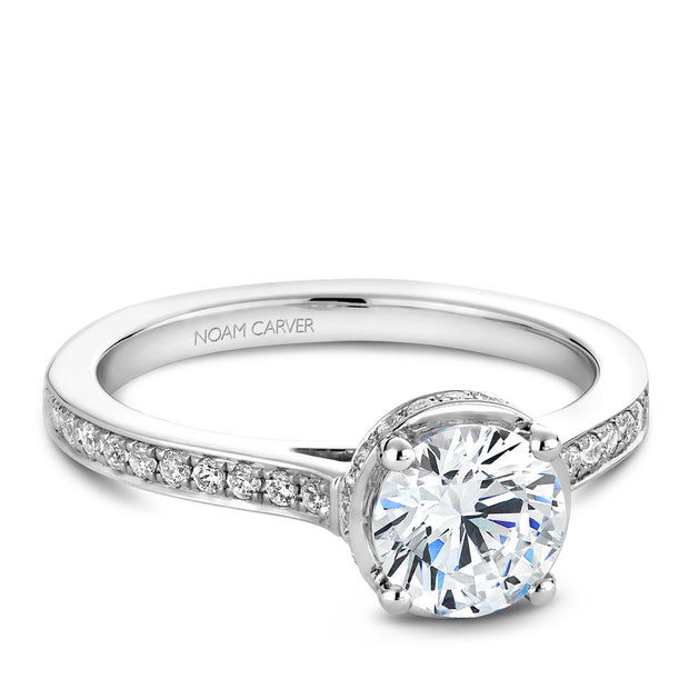 Noam Carver Bridal - One Carat 14k Gold Semi Mount