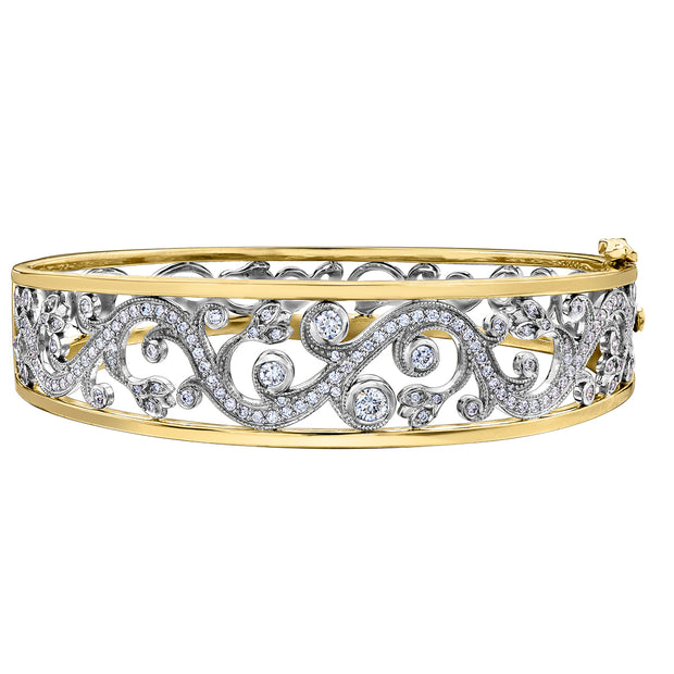 Seasons by Shelly Purdy Enchanted Garden Canadian Diamond Bangle