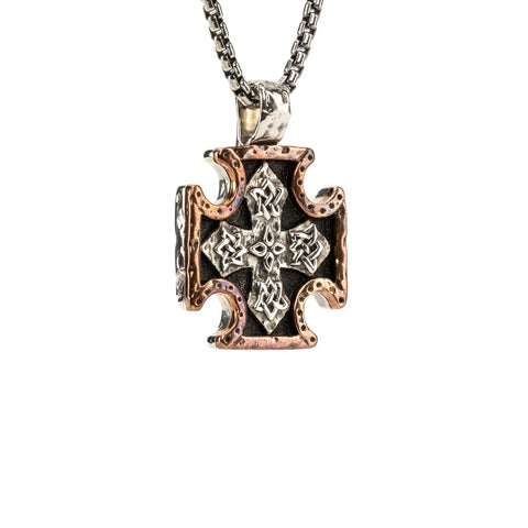 Keith Jack Petrichor - BIKER CROSS PENDANT MEDIUM