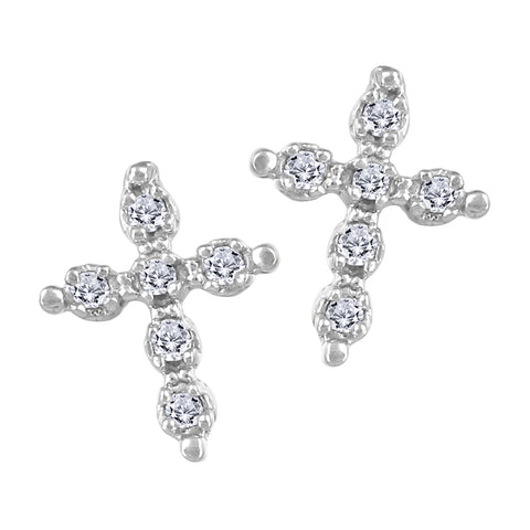 My Baby Rocks - Diamond Cross Earrings