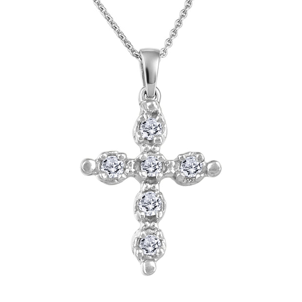 My Baby Rocks - Diamond Cross Pendant
