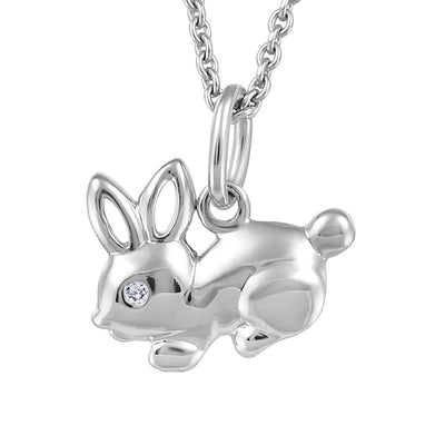 My Baby Rocks - Diamond Bunny Pendant