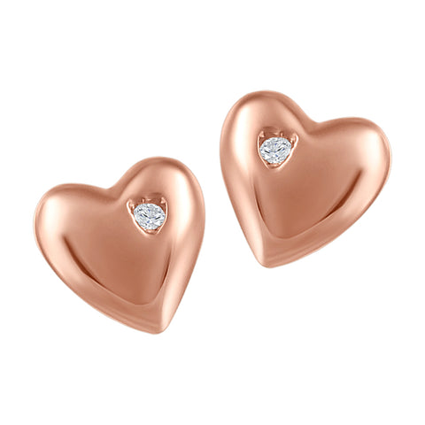 My Baby Rocks - Diamond Heart Earrings