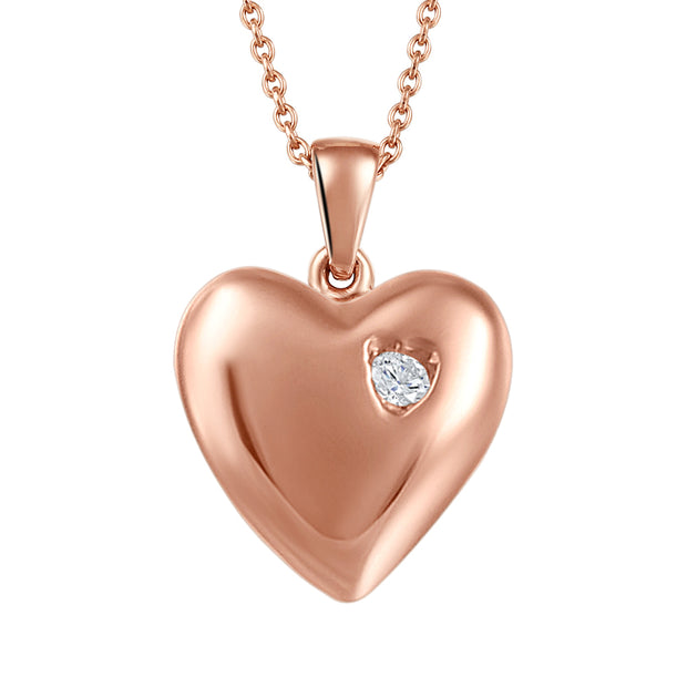 My Baby Rocks - Diamond Heart Pendant