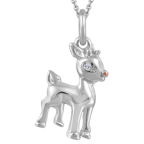 My Baby Rocks - Diamond Deer Pendant
