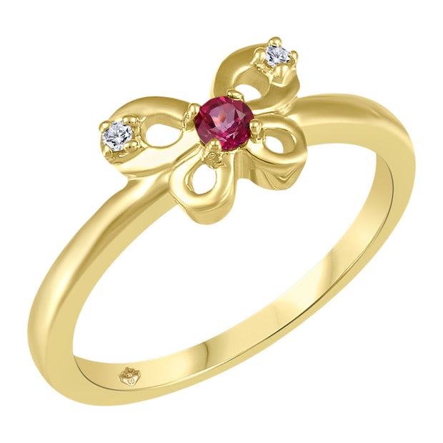 My Baby Rocks - Gemstone Butterfly Ring