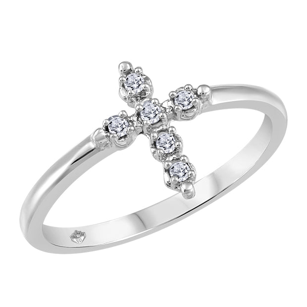 My Baby Rocks - Diamond Cross Ring
