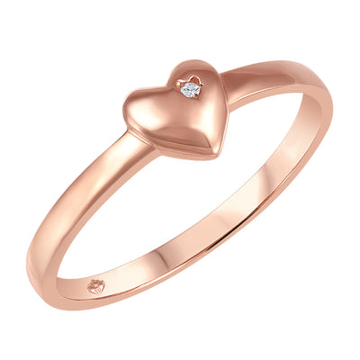 My Baby Rocks - Diamond Heart Ring