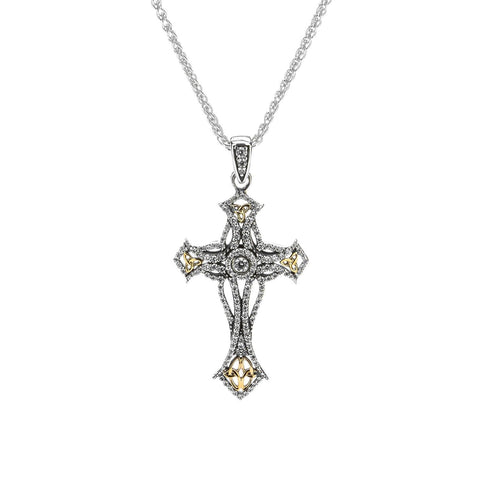 CZ Celtic Cross Pendant