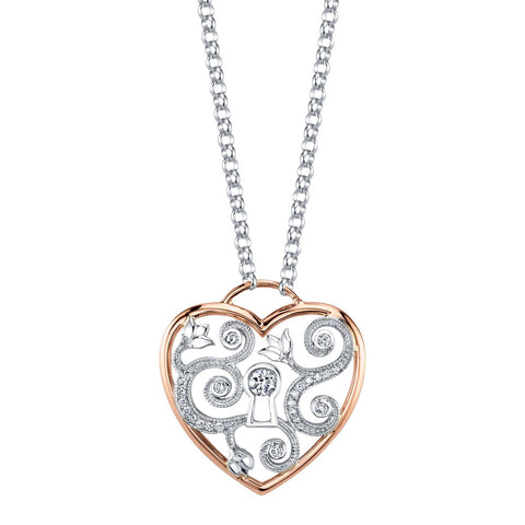 Seasons by Shelly Purdy Enchanted Garden Canadian Diamond Heart Pendant