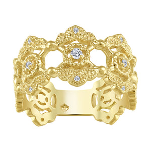 Beverly Hills Jewellers 10k Yellow Gold Diamond Ring