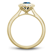 Noam Carver J'aime - 14k Yellow Gold London Blue Topaz Ring