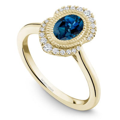 Noam Carver J'aime 14k Yellow Gold London Blue Topaz Ring