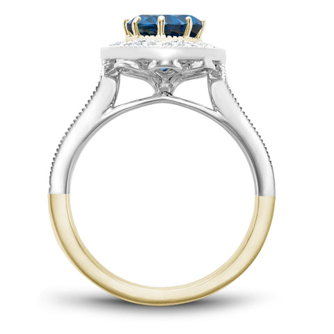 Noam Carver J'aime - 14k White Gold & Yellow Gold London Blue Topaz