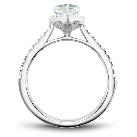 Noam Carver J'aime - 14k White Gold Green Amethyst Ring