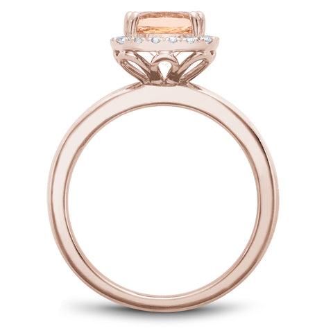 Noam Carver J'aime - 14k Rose Gold Morganite Ring