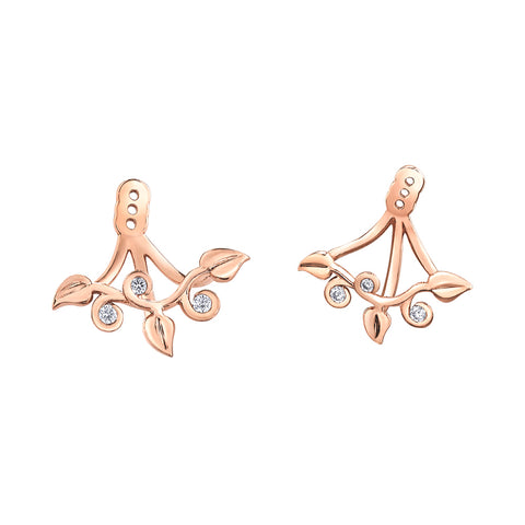 Shelly Purdy Seasons - Intertwined Ivy Canadian Diamond Earrings