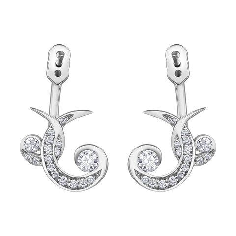 Seasons by Shelly Purdy Twisted Canadian Diamond Earrings