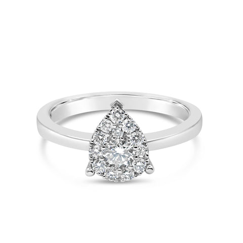 Pear Cluster Diamond Ring