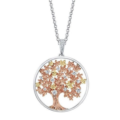 Shelly Purdy Seasons - Falling Leaves Canadian Diamond Pendant