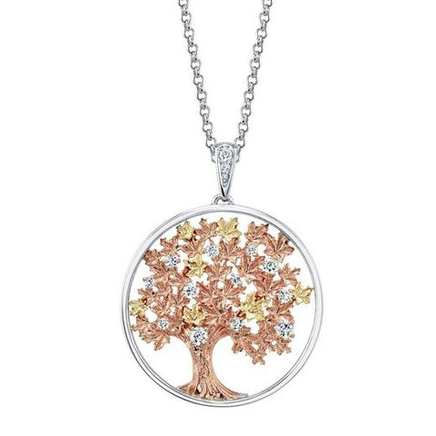 Shelly Purdy Falling Leaves Diamond Pendant