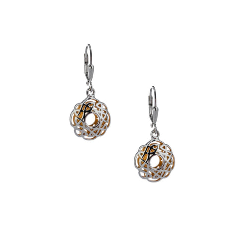 Keith Jack - Gilded Window to the Soul Scalloped Earrings