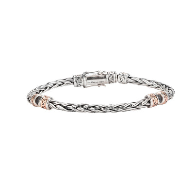 Keith Jack - Wheat Link Hinged Bracelet length