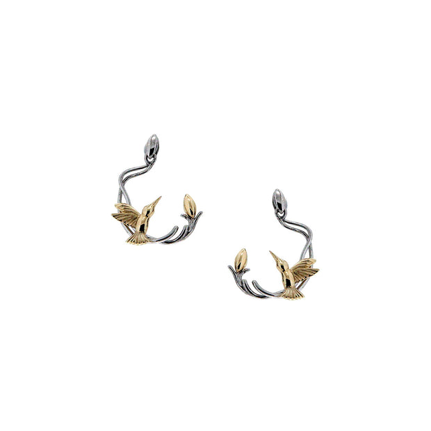 Keith Jack - Silver & Gold Humming Bird Stud Earring