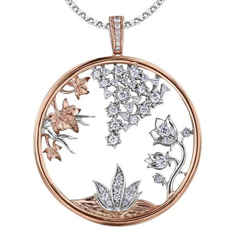Four Seasons Canadian Diamond Pendant